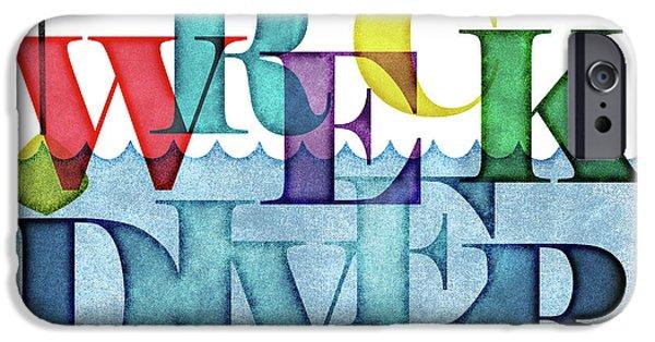 Scuba Diver iPhone 6s Case - Wreck Diver Colorful Scuba by Flo Karp