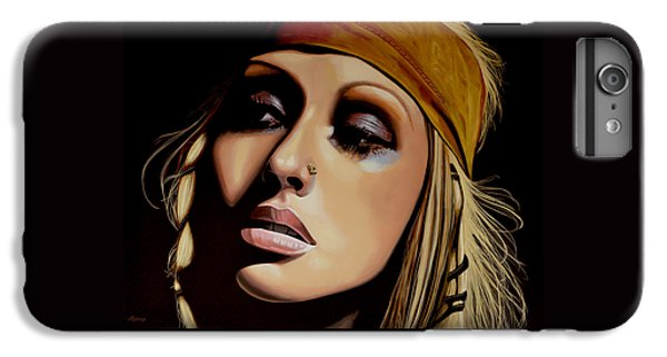 Rhythm And Blues iPhone 6s Plus Case -  Christina Aguilera Painting by Paul Meijering