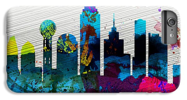 Dallas Skyline iPhone 6s Plus Case -  Dallas City Skyline by Naxart Studio