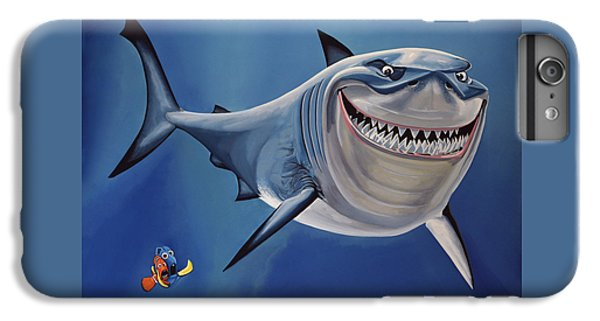 Sharks iPhone 6s Plus Case - Finding Nemo Painting by Paul Meijering