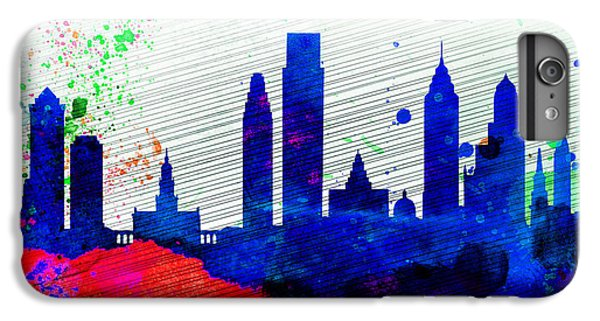 Philadelphia City Skyline IPhone 6s Plus Case by Naxart Studio