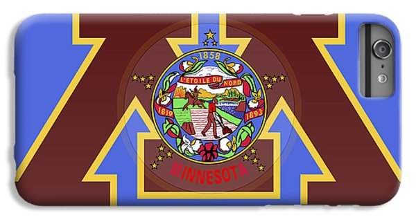 U Of M Minnesota State Flag IPhone 6s Plus Case by Daniel Hagerman