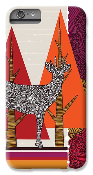 Deer iPhone 6s Plus Case - A Deer In Woodland by Valentina Ramos