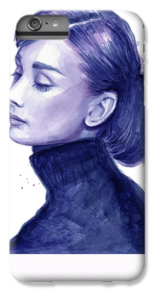 Audrey Hepburn iPhone 6s Plus Case - Audrey Hepburn Portrait by Olga Shvartsur