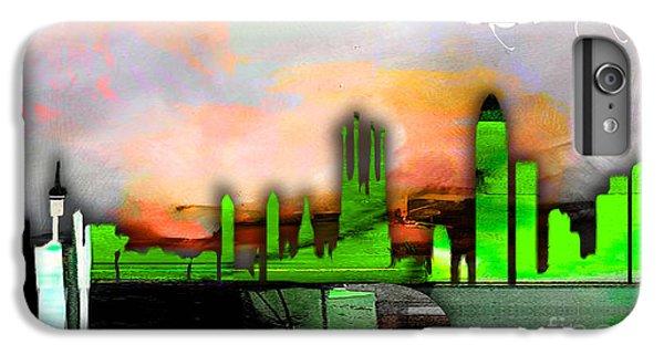 Barcelona Spain Skyline Watercolor IPhone 6s Plus Case