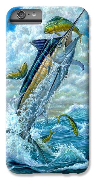 Dolphin iPhone 6s Plus Case - Big Jump Blue Marlin With Mahi Mahi by Terry  Fox