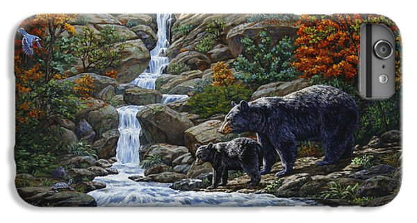 Woodpecker iPhone 6s Plus Case - Black Bear Falls by Crista Forest