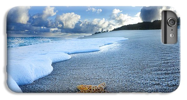 Beach iPhone 6s Plus Case - Blue Foam Starfish by Sean Davey