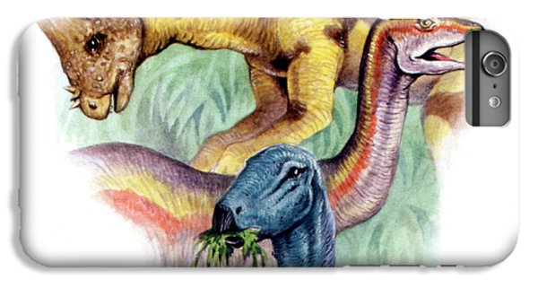 Ostrich iPhone 6s Plus Case - Cretaceous Herbivorous Dinosaurs by Deagostini/uig
