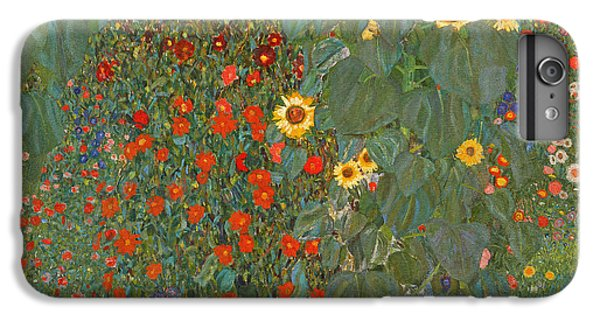 Sunflower iPhone 6s Plus Case - Farm Garden With Sunflowers by Gustav Klimt