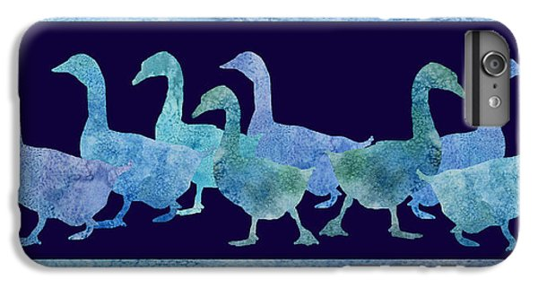 Geese Batik IPhone 6s Plus Case by Jenny Armitage