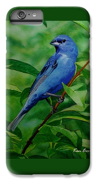 Indigo Bunting IPhone 6s Plus Case by Ken Everett