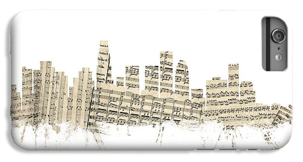 Los Angeles California Skyline Sheet Music Cityscape IPhone 6s Plus Case by Michael Tompsett