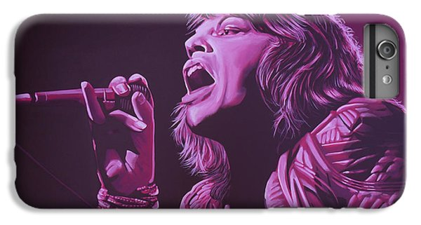 Goat iPhone 6s Plus Case - Mick Jagger 2 by Paul Meijering