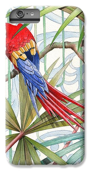 Macaw iPhone 6s Plus Case - Parrot, 2008 by Jenny Barnard