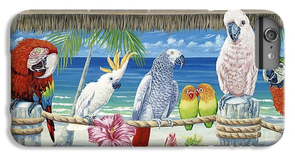 Parrots In Paradise IPhone 6s Plus Case by Danielle  Perry
