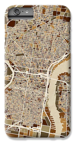 Philadelphia Pennsylvania Street Map IPhone 6s Plus Case by Michael Tompsett