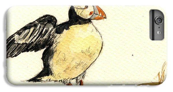 Puffin iPhone 6s Plus Case - Puffin Bird by Juan  Bosco