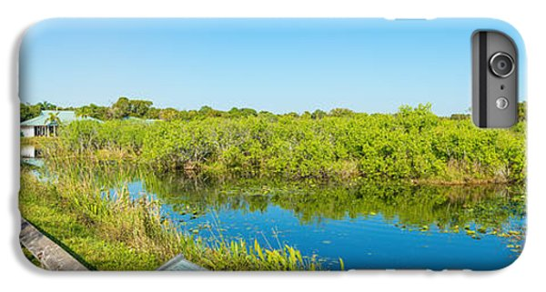 Anhinga iPhone 6s Plus Case - Reflection Of Trees In A Lake, Anhinga by Panoramic Images