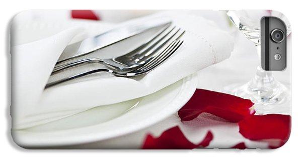 Rose iPhone 6s Plus Case - Romantic Dinner Setting With Rose Petals by Elena Elisseeva