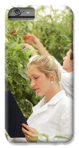 Scientists Examining Tomatoes IPhone 6s Plus Case by Gombert, Sigrid