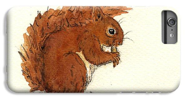 Squirrel iPhone 6s Plus Case - Squirrel by Juan  Bosco