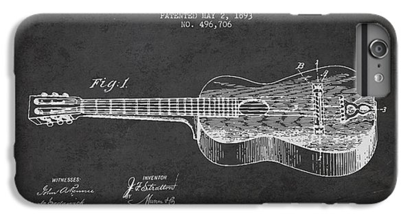 Guitar iPhone 6s Plus Case - Stratton Guitar Patent Drawing From 1893 by Aged Pixel