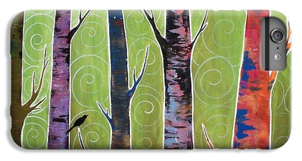 Blackbird iPhone 6s Plus Case - Trees On Green by Karla Gerard