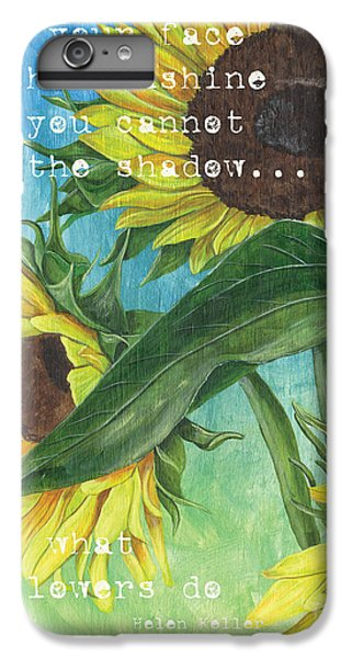 Sunflower iPhone 6s Plus Case - Vince's Sunflowers 1 by Debbie DeWitt