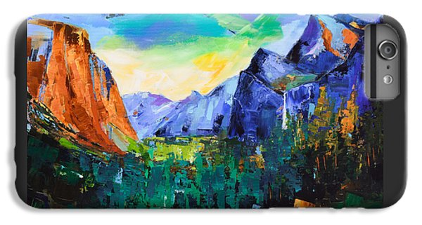 Yosemite National Park iPhone 6s Plus Case - Yosemite Valley - Tunnel View by Elise Palmigiani