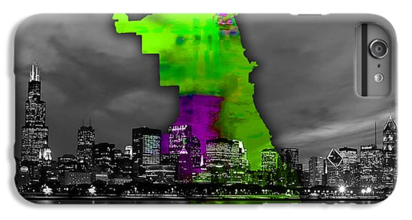 Chicago Map And Skyline Watercolor IPhone 6s Plus Case
