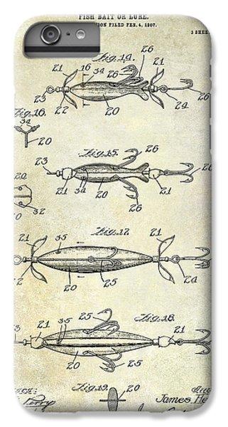 1907 Fishing Lure Patent IPhone 6s Plus Case by Jon Neidert