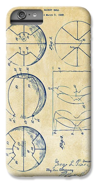 1929 Basketball Patent Artwork - Vintage IPhone 6s Plus Case by Nikki Marie Smith