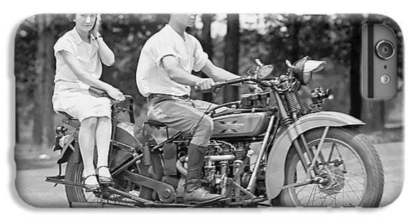 Motorcycle iPhone 6s Plus Case - 1930s Motorcycle Touring by Daniel Hagerman