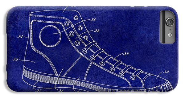 1934 Converse Shoe Patent Drawing Blue IPhone 6s Plus Case by Jon Neidert
