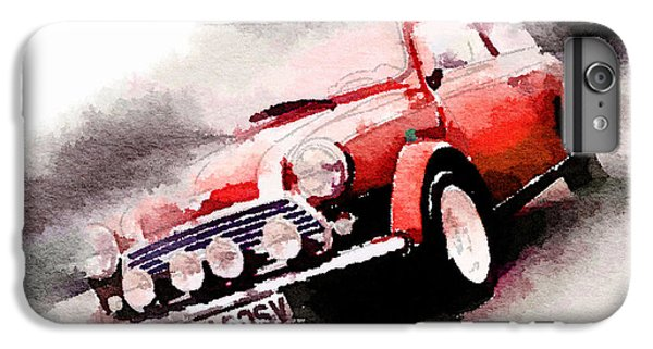 1963 Austin Mini Cooper Watercolor IPhone 6s Plus Case by Naxart Studio