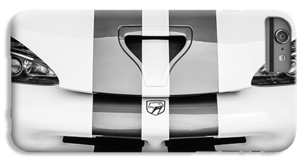 Viper iPhone 6s Plus Case - 1998 Dodge Viper Gts-r Grille Emblem -0329bw by Jill Reger
