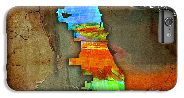 Chicago Map Watercolor IPhone 6s Plus Case