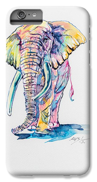 Colorful Elephant IPhone 6s Plus Case by Kovacs Anna Brigitta