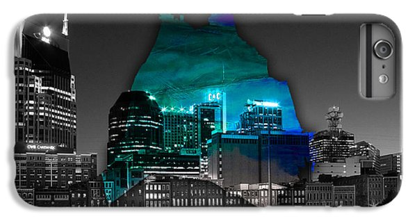 Nashville Skyline And Map Watercolor IPhone 6s Plus Case