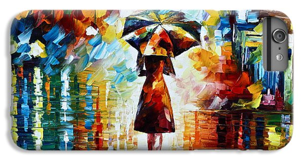 Town iPhone 6s Plus Case - Rain Princess - Palette Knife Landscape Oil Painting On Canvas By Leonid Afremov by Leonid Afremov
