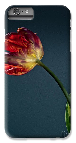 Floral iPhone 6s Plus Case - Red Tulip by Nailia Schwarz