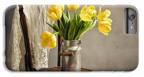 Tulip iPhone 6s Plus Case - Still Life With Yellow Tulips by Nailia Schwarz