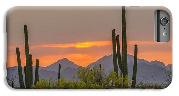 Desert Sunset iPhone 6s Plus Case - Usa, Arizona, Saguaro National Park by Jaynes Gallery
