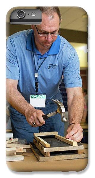 Volunteers Making Bat Houses IPhone 6s Plus Case by Jim West