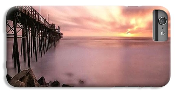 iPhone 6s Plus Case - Long Exposure Sunset At The Oceanside by Larry Marshall