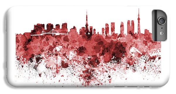 Tokyo Skyline In Watercolor On White Background IPhone 6s Plus Case by Pablo Romero
