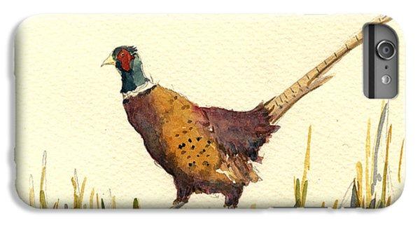 Pheasant iPhone 6s Plus Case - Pheasant by Juan  Bosco