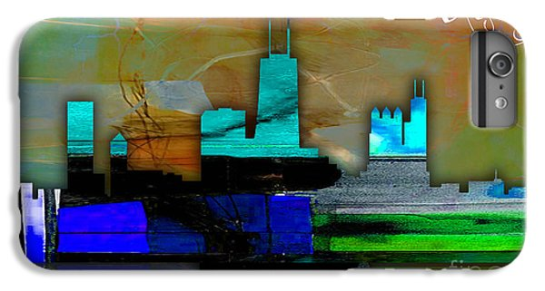 Chicago Skyline Watercolor IPhone 6s Plus Case by Marvin Blaine