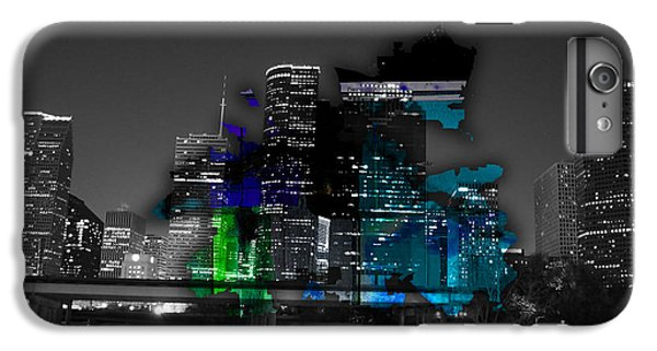 Houston Map And Skyline Watercolor IPhone 6s Plus Case